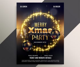 Golden halo 2020 christmas cover flyer template design vector