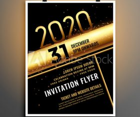 Golden stripes background for Christmas celebration cover flyer vector
