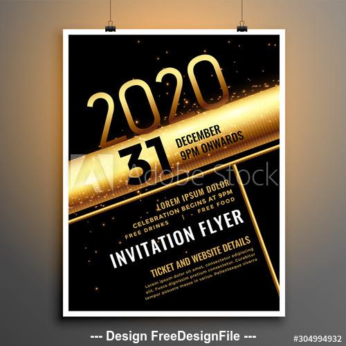 Golden stripes background for Christmas celebration cover flyer vector