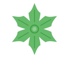 Green Flower Icons vector