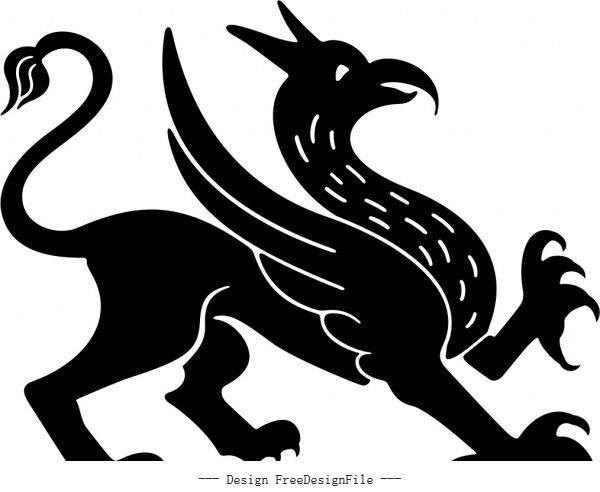Griffin free vector design