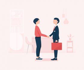Handshake illustration vector