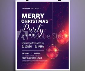 Happy 2020 Christmas cover flyer template design vector