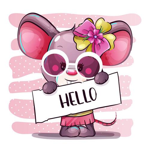 Happy cartoon rat vector
