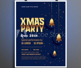 Happy new year christmas party flyer vector