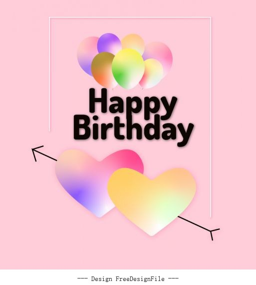 Happy birthday greeting card for loved one vector