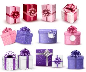 Holiday gift box vector