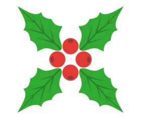 Holly icon vector