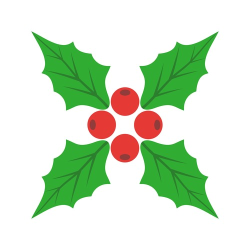 Holly icon vector