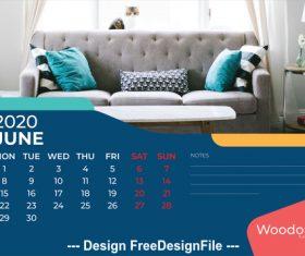 Home background calendar 2020 vector 03