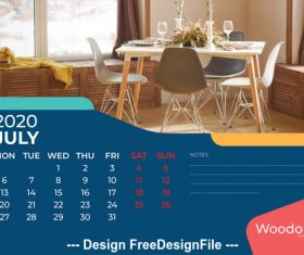 Home background calendar 2020 vector 04