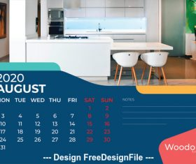 Home background calendar 2020 vector 05