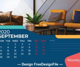 Home background calendar 2020 vector 06