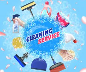 Home cleaning background vector