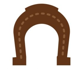 Horse Shoe icon vector