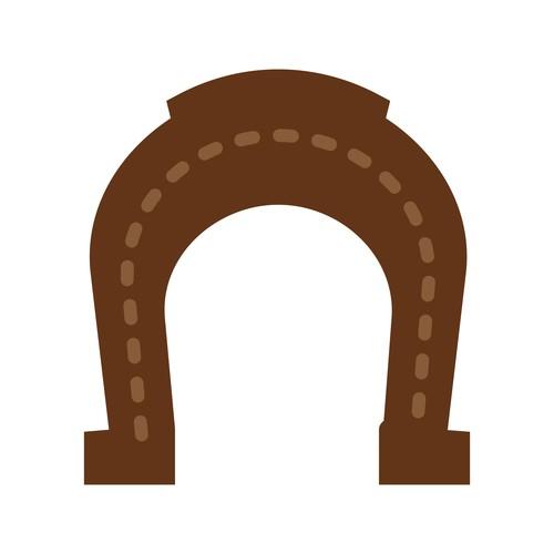 Horse Shoe icon vector