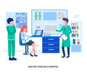 Hospital team vector