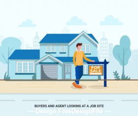 House for sale vector