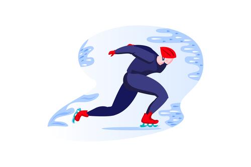 Ice skating cartoon vector