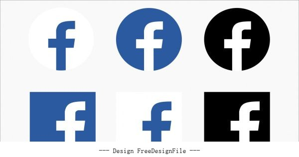 Icon facebook free vector