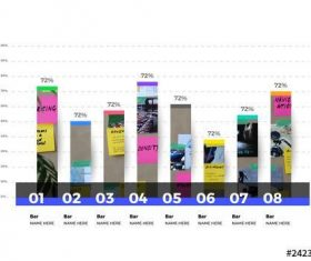Infographic bar chart layout with photo option vector