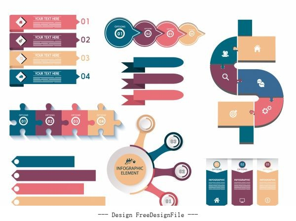 Infographic elements modern colorful flat vector