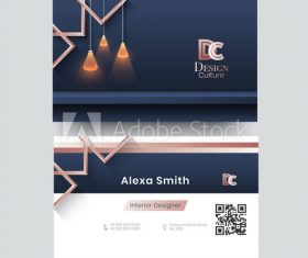 Interior design business card vector