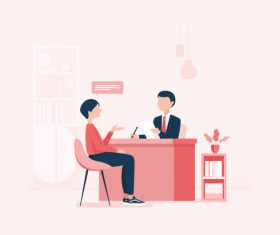 Job seeker illustration vector
