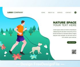 Jogging illustration template vector