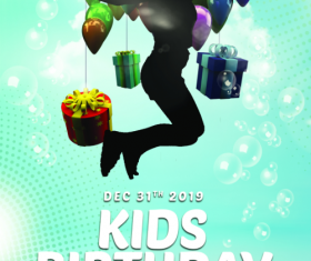 Kids Birthday Party Flyer PSD Template Design