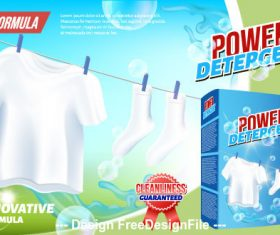 Laundry detergent home advertising vector