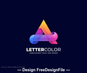 Letter a colorful logo template vector