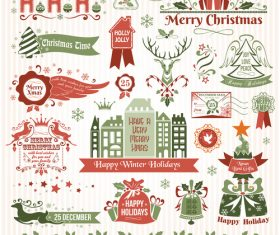 Light green background xmas logo vector