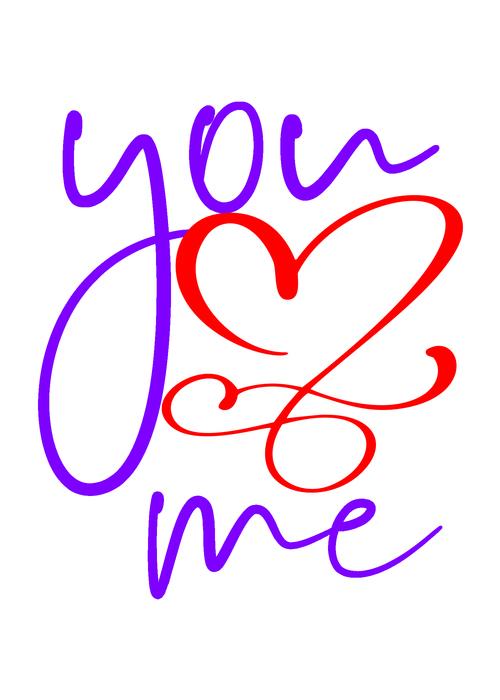 Line valentine day card vector