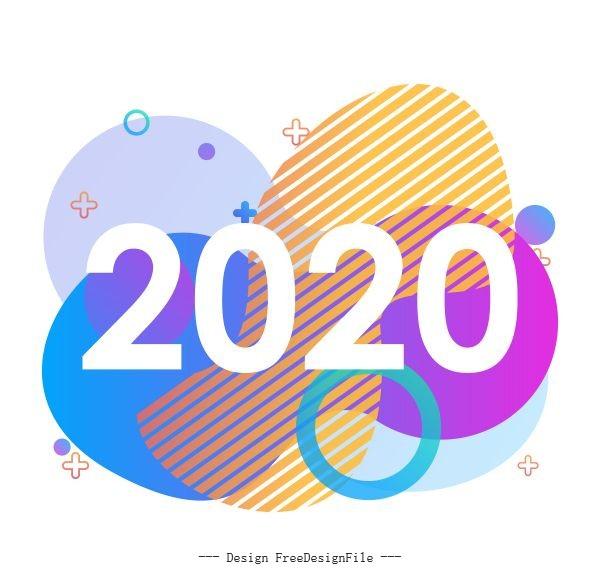 Creative 2020 design background vector