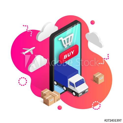 Logistics cartoon vector
