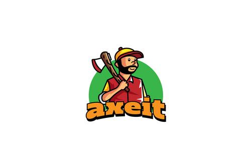Lumber jack mascot esport logo template vector