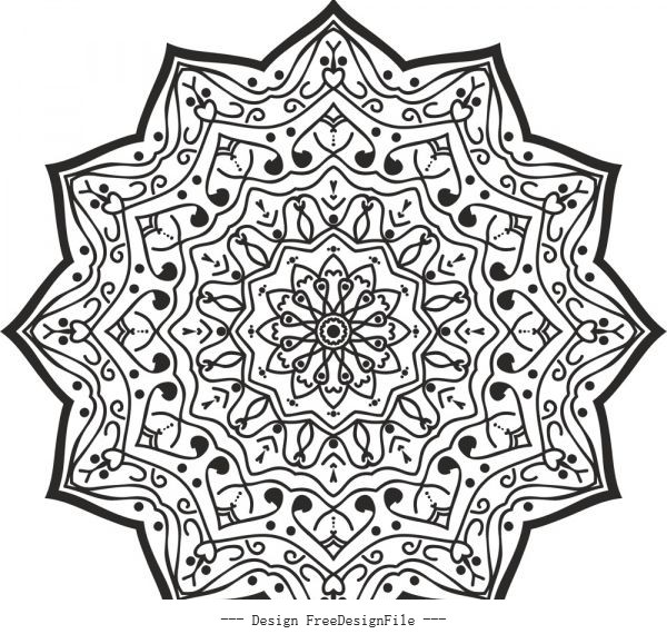 Luxury mandala free vector graphics