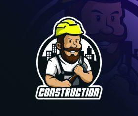 Maintenance worker logo design vector