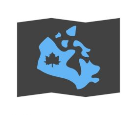 Map of canada Icons vector