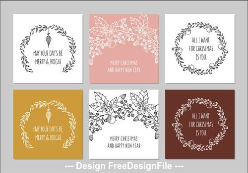 May your days be merry greeting card collection vector