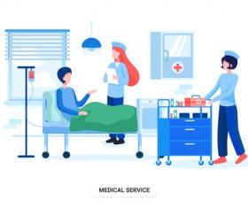 Medical service vector