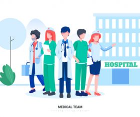 Medical team vector