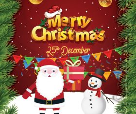 Merry Christmas Greeting PSD Flyer Template