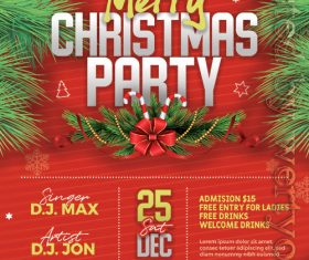 Merry Christmas Party Night PSD Flyer Template