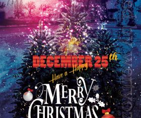 Merry Christmas Wishing PSD Flyer Template