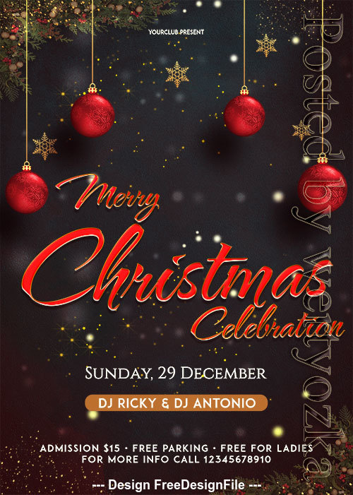 Merry XMAS event Flyer Psd Template