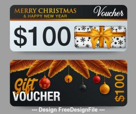 Merry christmas gift card vector