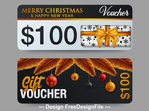 Merry christmas gift card vector