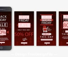 Mobile black friday promotion flyer 2020 vector